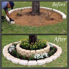 Lovely Diy Gardening Ideas More Easier - DIY Garten Landschaftsbau Garden Projects, Backyard Landscaping, Lawn And Garden, Diy Tree, Backyard Garden, Outdoor Gardens, Backyard Projects, Diy Backyard, Backyard