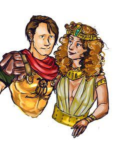 Caesar and Cleo by avtekken