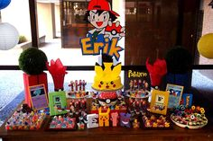 You have to see this Pokemon birthday party! See more party ideas at CatchMyParty.com!