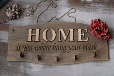 Face Mask Holder Key Hanger Mail Holder Shelf with Hooks Key Hooks Face Mask Hanger Face Mask Hooks Leash hooks Wood Sign Entryway Organizer Wooden Gifts, Handmade Wooden, Mail Holder, Entryway Organization, Key Hooks, Wall Hanger, Primary Colors, Wood Signs, Etsy