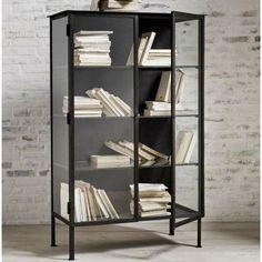 Grey Cupboards, Black Cabinets, Vintage Medical Cabinet, Industrial Style Furniture, Rustic Wood Walls, Vintage Sideboard, Glass Floor, Cabinet Styles, Glass Shelves