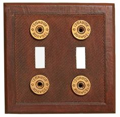 Shotgun Shell Double Switch Plate