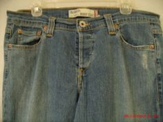 Levi's 513 Junior Premium Denim Jeans Slouch Sz13M StretchBoot W35in.x32in.InsEAM AWESOME BUY WITH DISCOUNTED PRIORITY SHIPPING--LOWEST EVER!!!