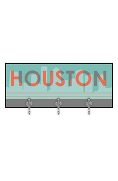 Green Leaf Art 'Houston Skyline' Decorative Wall Hooks available at #Nordstrom
