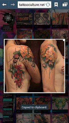 Flowers by Gene Coffey : Tattoos Type Tattoo, Tattoo You, Tattoo Ribs, Alaska Tattoo, Negative Tattoo, Negative Space Art, Thigh Tat, Paint Splash, Future Tattoos