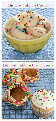 Birthday Cake flavored Homemade Ice Cream  www.thenymelrosefamily.com  #homemade_ice_cream #dessert #ice_cream