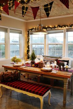 #BreakfastNook Christmas Christmas #Interiors