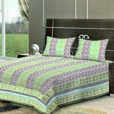 Shop Light Green Patchwork Double Bed Sheet with Two Pillow Covers at Virasat. DM or email us at hello@thevirasat.com for retail orders, exports, wholesale or for anything else you may require. #newyork #canada #losangeles #toronto #calgary #california #textiles #blockprints #london #londonhomes #texas #blockprint #homedecor #quilt #duvets #bedsheets #bedcovers #pillowcovers