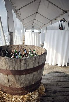 With all the bull riding and roping we will need  some refreshments. Drink troughs or half barrels would work perfectly.