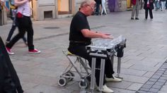 Street Performer Playing Classics on Water Glasses HD