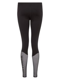 Mesh Overlay Logo Leggings from Beyconé's Ivy Park - With amazing mesh back details find it on Fashercise.com