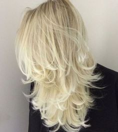 Platinum Blonde Layered Hair