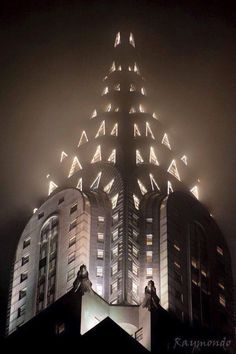 The fantastic Chrysler Building, NYC. (looking like a Christmas Tree)