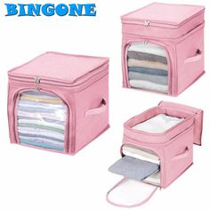 Bingone Hot Storage Bag Box Portable Durable Organizer Non Woven Underbed Pouch Storage Bag Box Bamboo For Clothing 35 Dresser Drawer Organization, Linen Closet Organization, Storage Bags For Clothes, Clothing Storage, Storage Boxes, Bag Storage, Organizar Closet, Cute Christmas Gifts, Jolie Lingerie