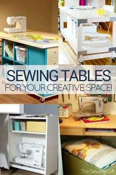 Stay organized and productive with these 15 Amazing Sewing Table Designs made with your creative space in mind. #DesignTable