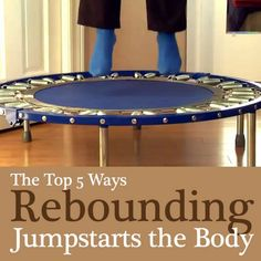 Have you tried rebounding for your daily exercise? Find out how the rebounder benefits the whole body in these five important ways. #1 is surprising! #lymphmassage #lymph #massage #weight #loss