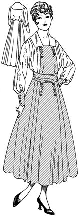 Past Patterns: #7936: Ladies' Dress: Circa 1920  Maid dresses
