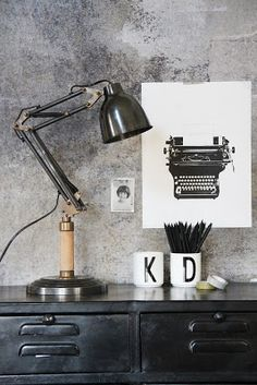Industrial lighting finishes off a room perfectly I think.and the mugs even…