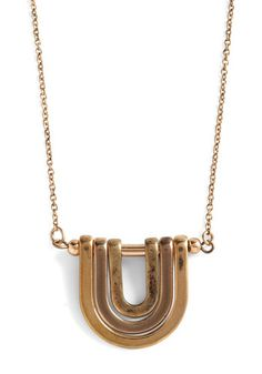 Take Your U-Turn Necklace, #ModCloth