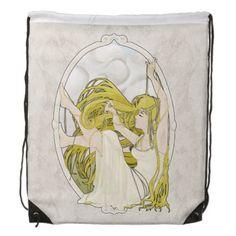 """Art Nouveau Bag """"Pearls"""" Cinch Bag"""