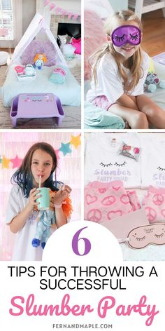 These 6 Tips for Throwing a Successful Slumber Party will help you create the perfect party plan and keep your sleepover smooth sailing! From sleeping environment to food and favors - get everything you need to know now at fernandmaple.com!