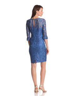 Lace dress with color