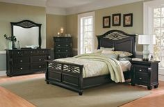 This is a beautiful and very intricate bedroom set!