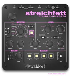 Waldorf Announces Streichfett String Synthesizer http://futuremusic.com/blog/2014/03/07/waldorf-announces-streichfett-string-synthesizer/
