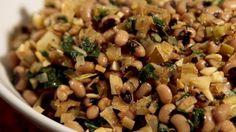 Black-eyed peas with leeks and chard.#sephardicrecipes #roshhashanah #newyearsrecipes #LATimes