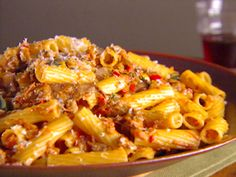 Rigatoni with Vegetable Bolognese Recipe : Giada De Laurentiis : Food Network - FoodNetwork.com  - had it last night and it was soooo good...might be my new favorite pasta dish