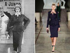 Skirt suit circa late 40s; Zac Posen F/W 12