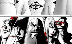 Fear the Division 0 Bleach - Tite Kubo Colo and lineart - Division 0 Bleach Art, Bleach Manga, Anime Shows, Art World, Division, Squad, Manga Anime, Cool Art, Horror