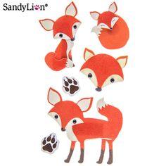 Fox 3D Stickers