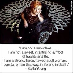 """disabilityfashionproject: """"Remembering Stella Young this International Women's Day [Image description: A photograph of Stella Young, a white woman with short reddish hair. Factitious Disorder, Wheelchair Costumes, Conversion Disorder, Osteogenesis Imperfecta, Reddish Hair, Whats Wrong With Me, Agoraphobia, Ehlers Danlos Syndrome, Sensory Processing Disorder"""