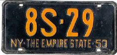 New York State Plate 1953