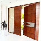 Contemporary Doors - Hills style - Modern - Entry - other metro - by Appalachian Woodwrights
