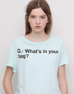 Pull&Bear - dames - t-shirts en tops - message t-shirt - pastelgr - 05241341-V2015
