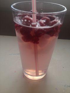 Homemade raspberry lemonade!