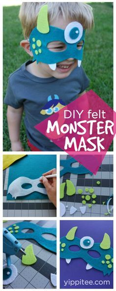 DIY Monster Mask - Free Template, downloadable monster mask pattern for Halloween and monster birthday parties