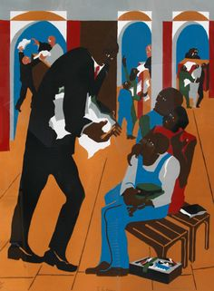"""Jacob Lawrence """"To the Defense"""""""