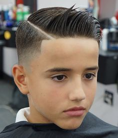 Boy's Fade With Shaved Side Part Trendy and stylish boys hairstyles in 2018. Cute examples of hairstyles for boys give him the confidence and inspiration to go to the barber.
