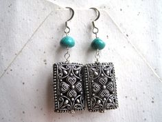 FREE SHIPPING 2.25 drop handmade pewter by LilyBaddourDesigns, $22.00
