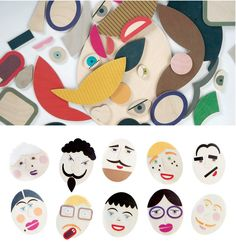 Shusha wooden toys - make different faces! So cool!
