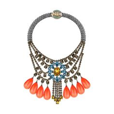 MAWI S/S 14 Barbarella tiered crystal necklace