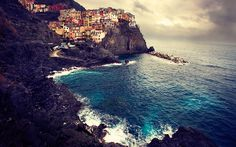 """""""Manarola Cinque Terre - Take II"""" -- #wallpaper by """"lmborlenghi"""" from http://interfacelift.com -- As my previous wallpaper... Beautiful Manarola. Luckily I've been back, only this time it was not sunny.  Still, amazing. Hope you like it.    Note, I left horizon like that on purpose. Lately I'm tired of straight horizon lines.    Canon EOS 1Ds Mark III, Canon EF 17-40mm f/4L USM. -- Available as #wallpapers in any resolution at: http://interfacelift.com/wallpaper/details/2854/"""