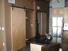 Standard Flat Track - Barn Door Hardware - contemporary style