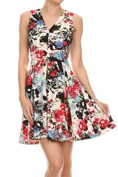 OMG Gotta have this! Floral Sleeveless... And you can just click here http://www.rkcollections.com/products/hmd50068-dc18?utm_campaign=social_autopilot&utm_source=pin&utm_medium=pin