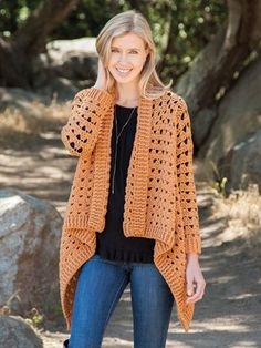 Euphoria Crochet Cardigan Solid Color