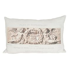 Vintage Hemp Double Cherub Pillow. Pillow cover is removable. $249.99