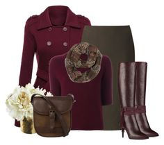 """""""wine & dark olive"""" by rvazquez ❤ liked on Polyvore featuring Uniqlo, Theory, Nine West, DUBARRY, WorkWear and Fall"""